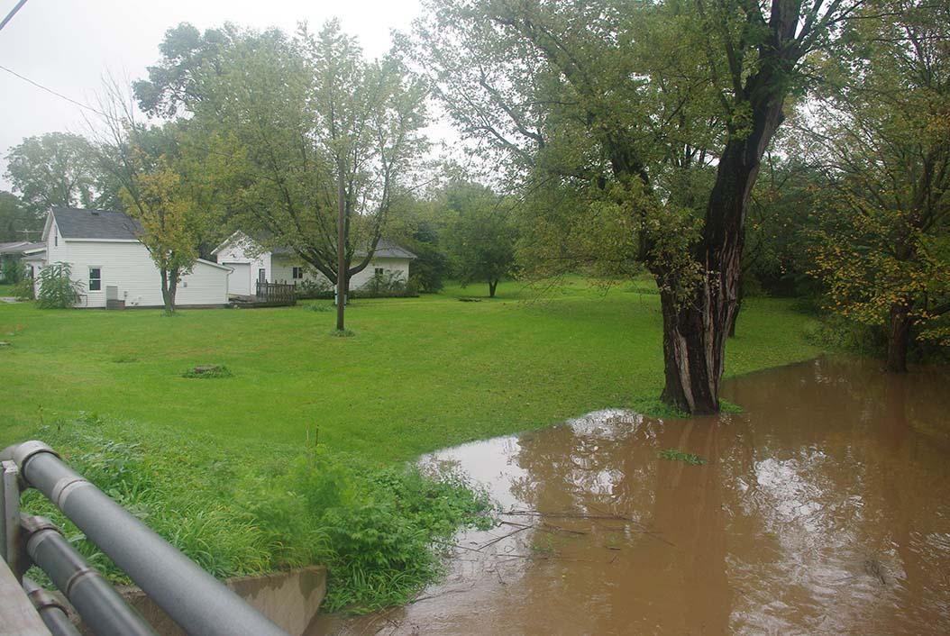 Mazomanie, State St. bridge, looking upstream.