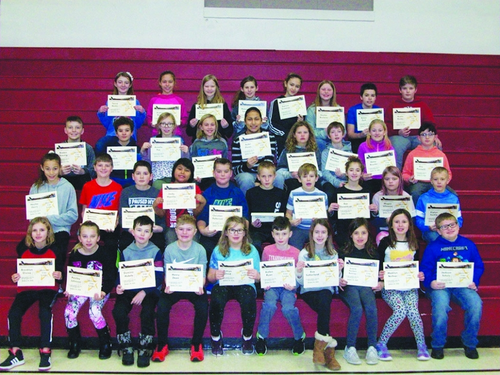 """The January Above The Line theme at Grand Avenue Elementary was """"Trustworthiness."""" The students listed below received awards on..."""