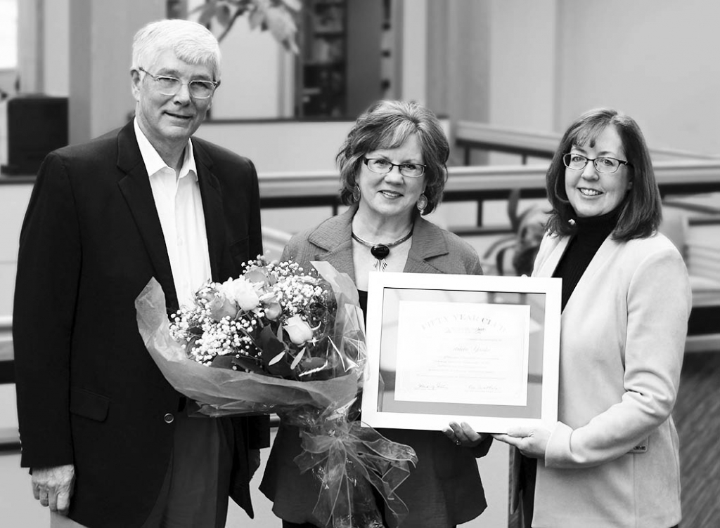 """After half a century of service to the community, Patricia """"Pat"""" Yanke from the Bank of Prairie du Sac has been honored for her..."""