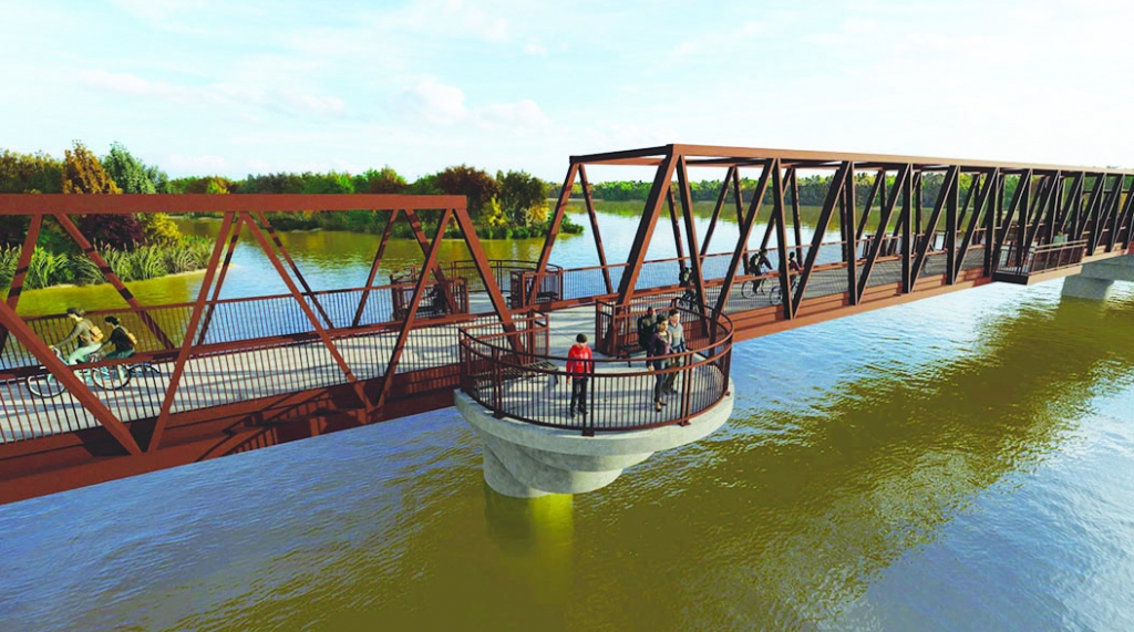 A bridge over the Wisconsin River connecting the Great Sauk State Trail in Sauk City to the Walking Iron Trail in Mazomanie is one step closer to...