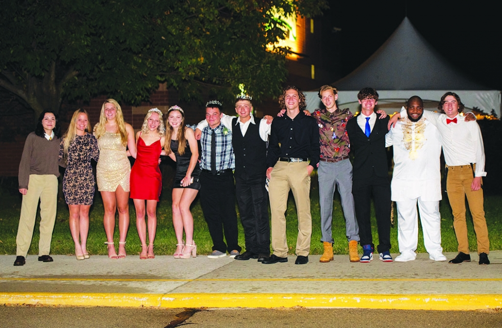 Wisconsin Heights held its Homecoming last week, and as usual the court was crowned. Seen here, left to right: Mars Henne, Taylor Henningfield, Daryn...