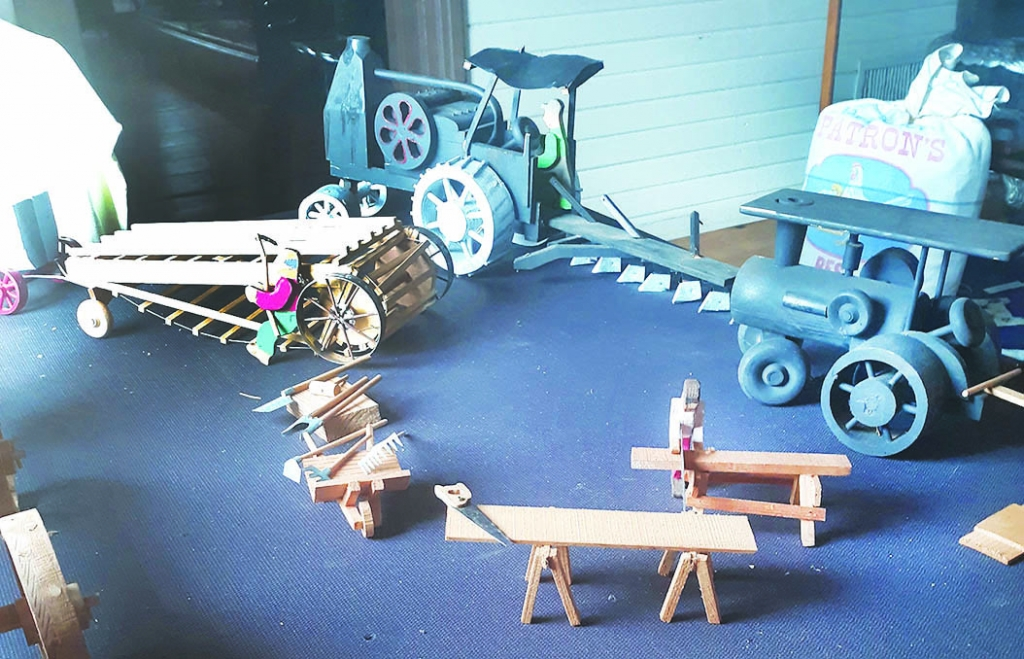 On display now at the Black Earth Historical Society's Depot Museum is a handcrafted rustic wood art display depicting a 100-year-old farm and...