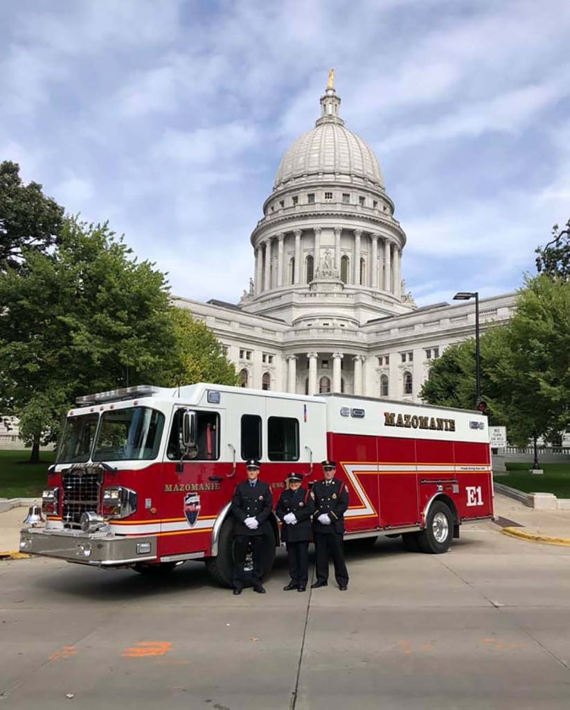 Mazomanie Fire Department participated in the Dane Co Fire Truck Parade on Oct. 6. That kicked off Fire Prevention Week. Three members, Peter Gates,...