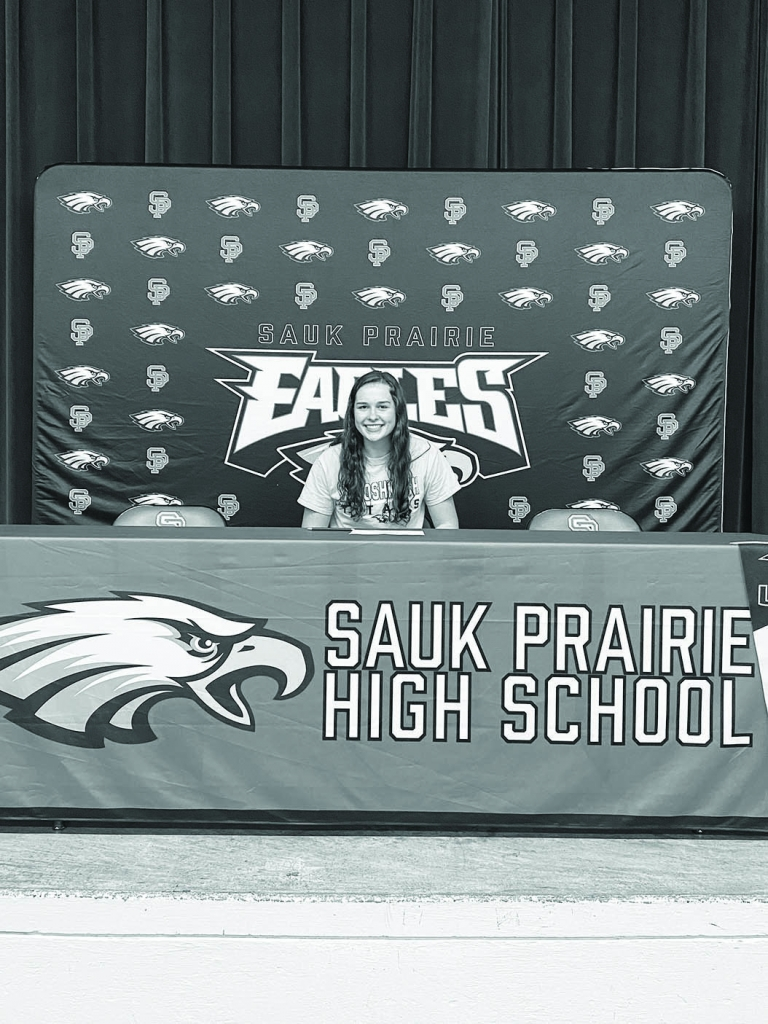 Sauk Prairie senior Olivia Breunig recently signed her letter of intent to play volleyball at UW-Oshkosh.Breunig, a senior setter and outside...