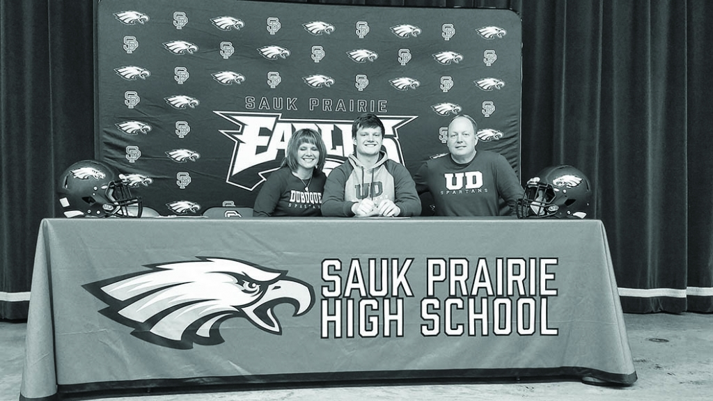 Sauk Prairie senior Garrett Hertzfeldt will attend the University of Dubuque this fall to study Aviation to become a commercial pilot and play...